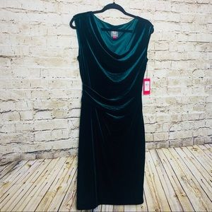 Vince Camuto Emerald Green Cowl Neck Dress 10